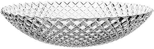 WANGSHAOFENG Fruit Holder Fruit Plate Crystal Glass Salad Plate Basket Bowl Holder Tray For Snacks Modern Fruit Bowl Decorate Kitchen Counter fruit baskets (Color : Transparent, Size : 27 * 27 * 7cm)