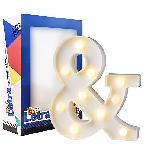 DON LETRA Símbolo & Luminoso Decorativo para Boda, Combinación de Letras Luminosas...