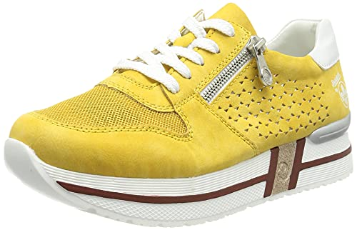 Rieker Damen N3629 Sneaker, Gelb,39 EU
