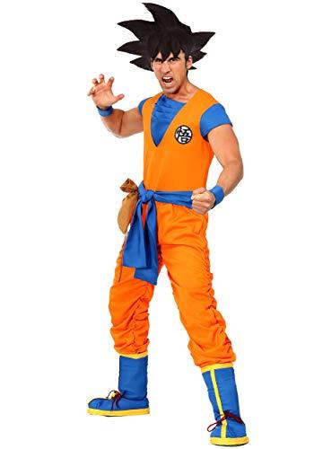 Dragon Ball Z Authentic Goku Men's Costume Small Orange