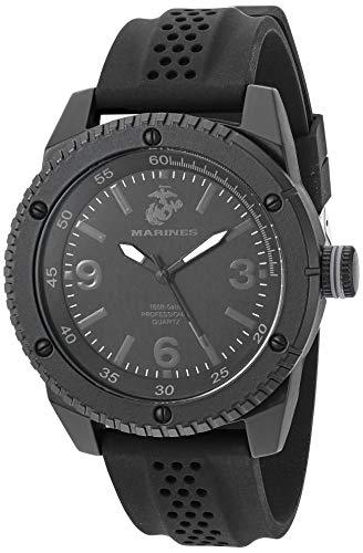 Wrist Armor Men's Japanese Quartz Silicone Strap, Black, 24 Casual Watch (Model: F1/1002)