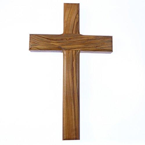 20,3cm 20cm Massiv echtem Olivenholz Wandbehang Kreuz Christliches Geschenk handgeschnitzt