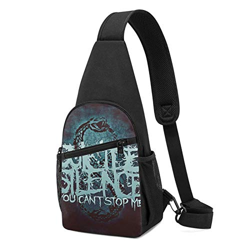 Sling Bag for Men Anti-Theft Shoulder Backpack Suicide Silence Chest Bags Adjustable Crossbody Lightweight Daypack Bicycle & Sport