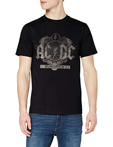 AC/DC Black Ice Camiseta, Negro, XL para Hombre