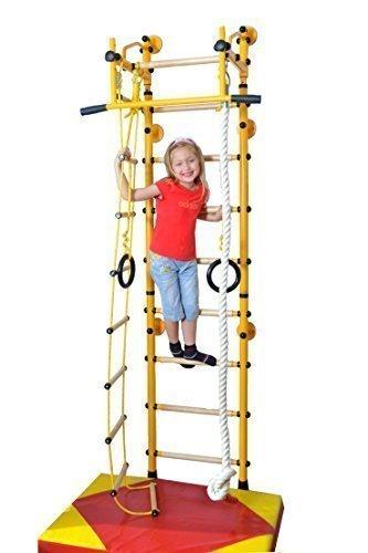 Niro Sportgeräte Klettergerüst, Sprossenwand, Indoor, M2, Farbe Grün, max. Belastbarkeit 130 kg