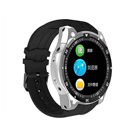 Lg-jz Smart Watch Round Android IP67 Impermeabile frequenza cardiaca Schermo Rotondo Pressione sanguigna WIFIP Posizionamento Bluetooth Watch Regalo Braccialetto Intelligente (Dimensioni : Silver)