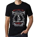 One in the City Hombre Camiseta Vintage T-Shirt Rottweiler Dog Negro Profundo