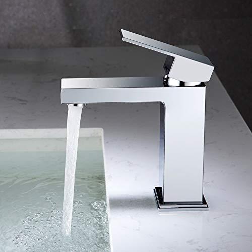 DUTRIX lavabo para baño grifo para lavabo agua fría y caliente grifo para baño opcional grifo de latón cromado duradero