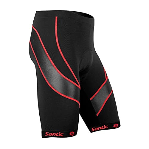 Santic Men's Cycling Shorts red L