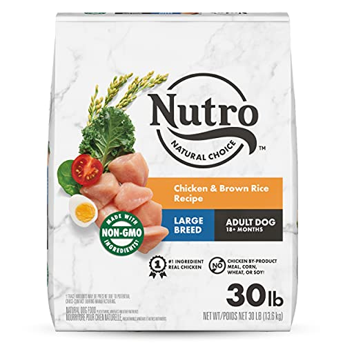 NUTRO NATURAL CHOICE Large Breed Adult Dry Dog Food, Chicken & Brown Rice Recipe Dog Kibble, 30 lb. Bag