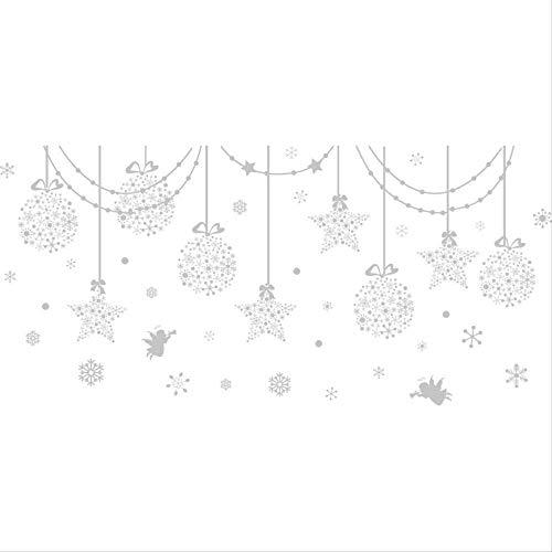 KEKEYANG Seis Piezas: Etiqueta de la Ventana de Cristal Tienda de Ropa Etiqueta de la Pared de la Ventana de Navidad Decoración Colgante Colgante de Regalo Bola Escaparate Tienda Murales