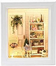TOOGOO 1//12 Miroir a Cadre Dore de Maison de Poupee Accessoires de Salle de Bain Miniature Miroir Carre de Maison de Poupee