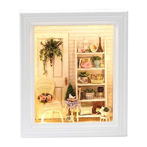 DIY Holz Montieren in Bilderrahmen Sunny House Persönlichkeit Bilderrahmen Modell Spielzeug Modell Miniatur Möbelbaukasten Spielzeug Weihnachtsgeschenk