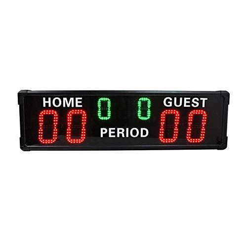 XTLXA LED Uhr Digital Uhr Große Wanduhr 6-stellige LED-Anzeigetafel Innengebrauch Basketball/Fußballspiel Anzeiger (Color : Black, Size : 1000x292x68mm)