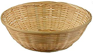 MM WILL CARE - WE WILL CARE YOUR PRODUCTS 11-inch Bamboo Fruit and Vegetable Basket (Beige)