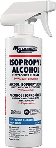 MG Chemicals 824 Detergente per componenti elettronici con alcol isopropilico al 99,9%, flacone spray liquido da 475 ml,