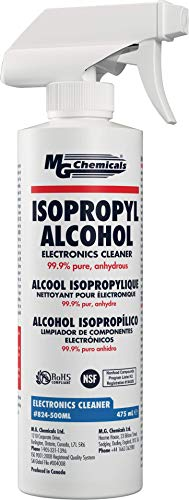MG Chemicals 99.9% Isopropyl Alcohol Electronics Cleaner, 475 mL Liquid Spray Bottle