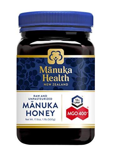 Manuka Health - Manuka Honing MGO 400 + 500 g - 100% puur uit Nieuw-Zeeland met gecertificeerd methylglyoxal-gehalte