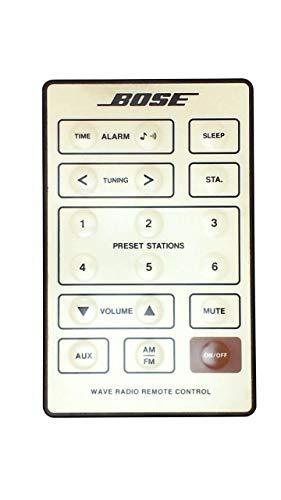 Genuine OEM Bose REMOTE CONTROL for Bose Wave Radio Cream White Series I Models AWR1-1W, AWR113, AWR131, Versions 1, 2, 3 and (AWR1G1 Version 5 w/o alarm set)