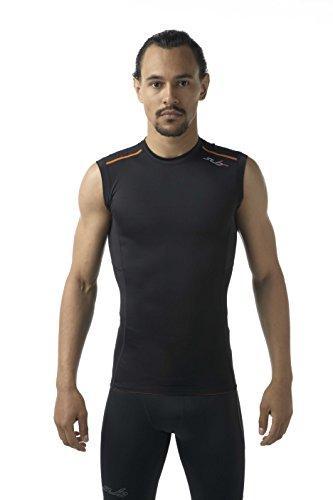 Sub Sports Elite RX Graduated Compression Sleeve, Strato di Base Uomo, Black/Orange, XXL