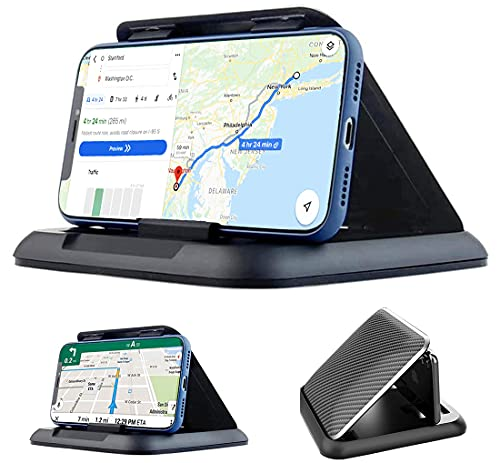 Support Telephone Voiture Support Smartphone Voiture Anti-Dérapant de Silicone Collant Fixation Phone Holder Car pour iPhone12 Pro/12/Xs/Max/Xr/X/11/8s Plus Galaxy S10 Note 10+ Huawei Mate 30 Pro GPS