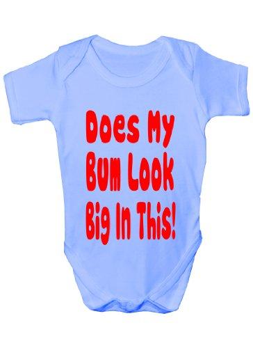 Does My Bum Look Big in This ~ Funny Body bébé fille/garçon cadeau pour bébé - Bleu - 1 mois