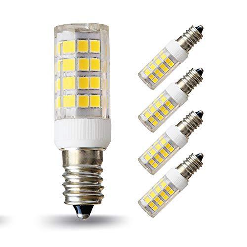 Lampaous LED Birne E14, 5W ersatz für 40W Glühbirne, Naturweiss Weiss 4500K 360°Abstrahwinkel, nicht dimmbar LED Lampen Leuchtmittel Leuchte 4er Pack