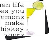 Not Applicable Mouse Pad,Mousepad,Mouse Pads,Alfombrilla De Ratón,Cuando La Vida Te Da Limones Haz Whisky Sours Mat Ratones Alfombrilla para Computadora Portátil De Oficina En Casa Pc