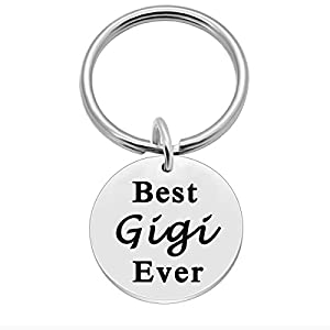 Mothers Day Gifts for Gigi, Birthday Key Ring Gift Ideas for Grandma – Best Gigi Ever