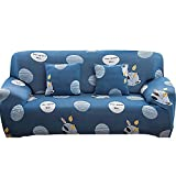 WXQY Funda de sofá elástica para Sala de Estar, Funda de sillón con Estampado geométrico, Juego de Funda de sofá Todo Incluido a Prueba de Polvo A26 1 Plaza