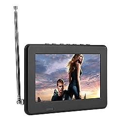 top rated Portable Digital TV, 7-inch / 10-inch LCD1080P ATSC FM Car Digital TV with Radio, Digital Stereo … 2021