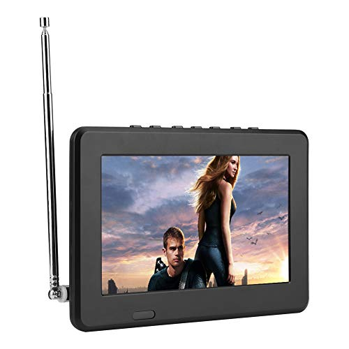 Portable Digital Television,7in/10in LCD 1080P ATSC Car Digital TV with FM Radio,Stereo Digital TV Support AV in/Out,SD MMC Card for Kitchen,Outdoor,Car,Caravan,Camping(7in ATSC)