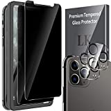 LK Compatibile con iPhone 11 PRO Max 6.5 Pollici Privacy Pellicola Protettiva, 2 Pezzi Vetro Temperato e 2 Pezzi Protezione Fotocamera Nero Protezione Schermo Pellicola, Strumento di Installazione
