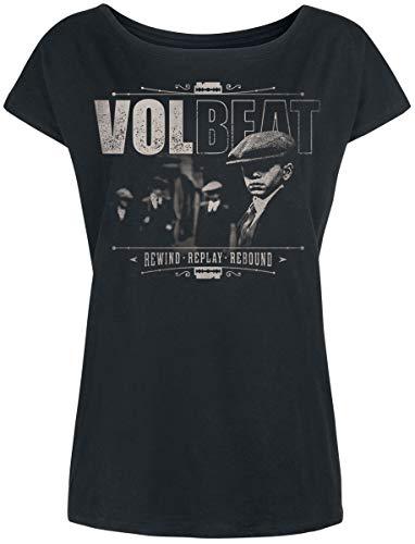 Volbeat The Gang Frauen T-Shirt schwarz XL 100% Baumwolle Band-Merch, Bands