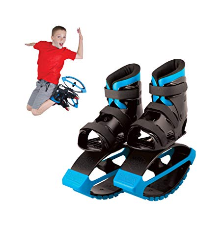 MGP Action Sports – Boost Boots – Kids Jumping Shoes – Black Blue – Suites Boys & Girls Ages 5+ - Max User Weight 88lbs