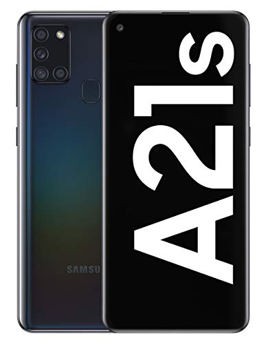 Samsung Galaxy A21s - Smartphone de 6.5' (4 GB RAM, 64 GB de Memoria Interna, WiFi, Procesador Octa Core, Cámara Principal de 48 MP, Android 10.0) Negro
