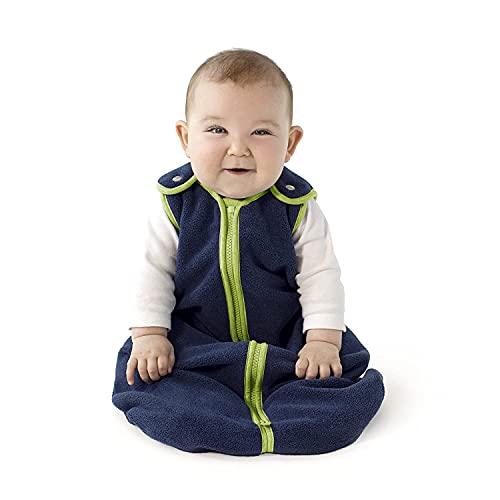 Babyschlafsack Rund | Leichter Schlafsack | Ganzjahres Schlafsack Baby | Kinderschlafsack waschbar (Blau, 65CM (0—6 Monate)