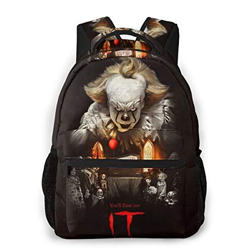 Childrens Unisex Backpack Bookbag Pennywise Balloon Outdoors Lightweight School Bag for Boys/Girls/Kids