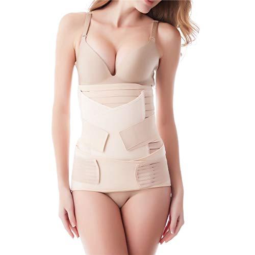 Aigori 3 en 1 Faja Postparto Reductora Mujer Recuperación después del Parto, Cinturón cómoda de Vientre/Cintura/Pelvis para Mujer y Maternidad (Talla única)