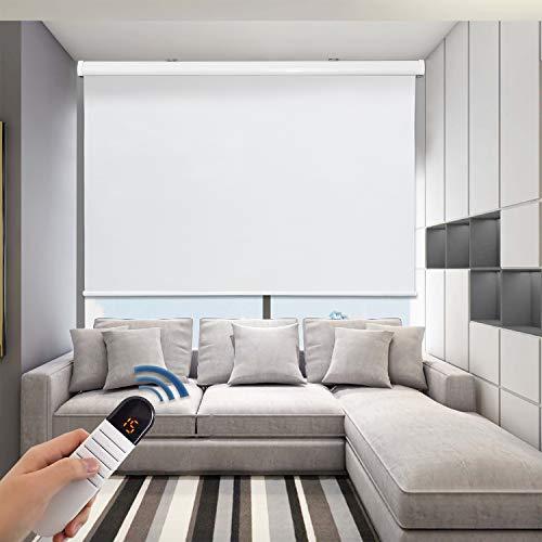 Grandekor Motorized Shades Motorized Blackout Shades Roller Shades Blackout Blinds for Smart Home...