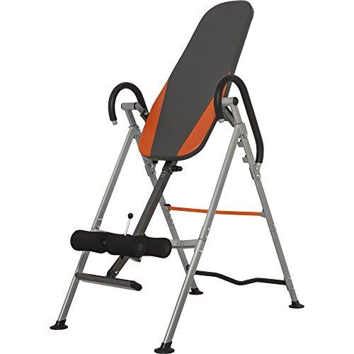 GORILLA SPORTS Inversionsbank klappbar Schwarz/Orange/Grau – Rückentrainer bis 110 kg belastbar