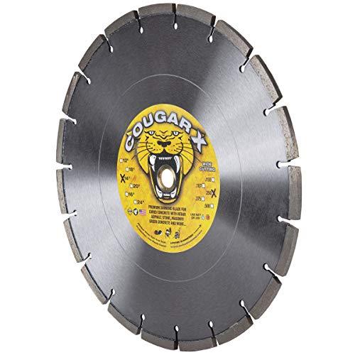 Delta Diamond CougarX 14-Inch X .250' Wide Cut Concrete Diamond Blade, 1'-20MM Arbor, Extra Wide Segments, Pro-Grade (14' X .250')