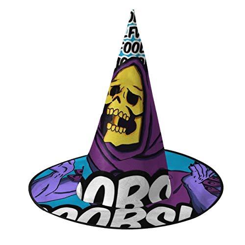 NUJIFGYTCRD He Man Skeletor rodeado de Tetas, Sombrero de Bruja de Halloween, Disfraz Unisex para Vacaciones, Halloween, Navidad, Carnaval, Fiesta