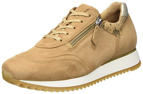 Gabor Shoes Damen Comfort Basic 46.335 Sneaker, Braun (Caramel/Camel/Plat 35), 42 EU