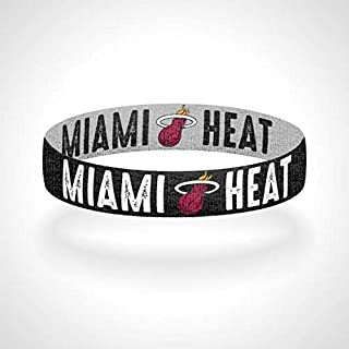 Reversible Black Miami-Heat Bracelet Wristband