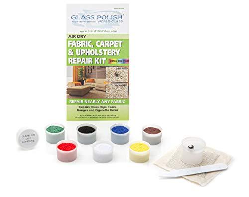Reparatur-Set für Stoff, Teppich und Polstermöbel –für kleine Löcher, Schnitte, Risse, Einrisse und Brandflecken