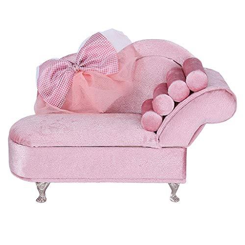 Baoblaze Rosa Sofa Form Schmuckschatulle Mini Schmuckkasten Schmuckbox zur Aufbewahrung von Ringen, Ohrringen, Ketten, Uhren und Accessoires