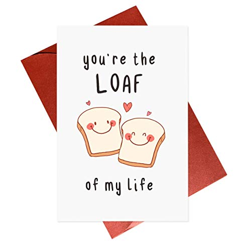 Romantic Bread Pun Card,Cute Love Card For Bread Lovers,Romantic Cards For Partner