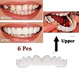 6 Stücke Silikon Gefälschte Zähne Falsche Zahnabdeckung Whitening Prothese Zahnpflege Zahnaufhellung Zahnpflege Zahnspangen Temporäre Kosmetische Zähne Prothese Zähne