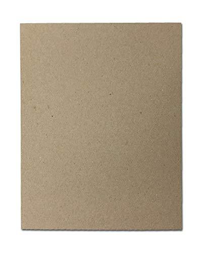 ABCD 30pt 8 1/2' x 11' Brown Kraft Cardboard Chipboard (100 Pieces)